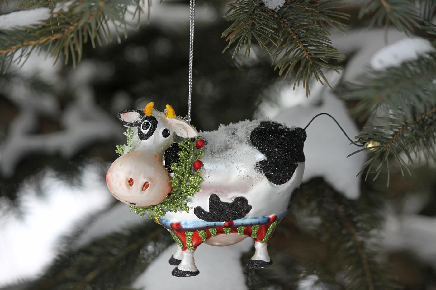 Cow Ornament #3