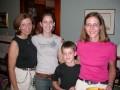 Beth Anderson, Reese, Lauren, and Susan Goulding