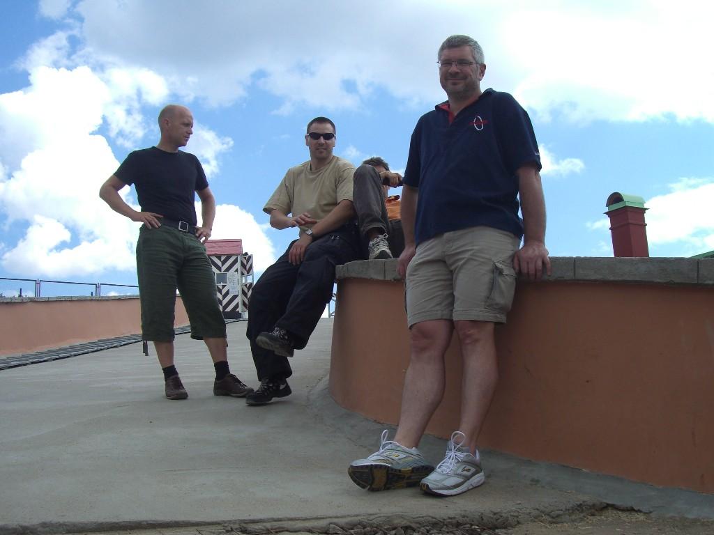 Tom, Frank, Karl M. & Toon in der Festung