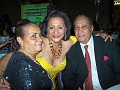 Gladys and Jacob Chemaly in the company of Rachel Moscoso Denis