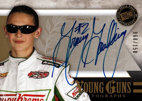 2012 Fanfare Young Guns Autographs Gold Gray Gaulding (1)