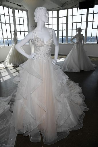 Nicole by Pronovias Spring 2020 bridal presentation during New York Fashion Week: Bridal