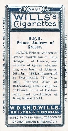 1908 Wills European Royalty #087 (2)