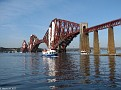 Forth Railway Bridge with Maid of the Forth & a QM2 Tender