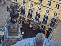 Blick hinunter von der Frauenkirche