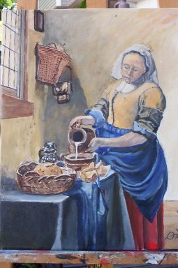 THE MILKMAID,  Reproduction Painting by Jack Bauer, Class of 1960