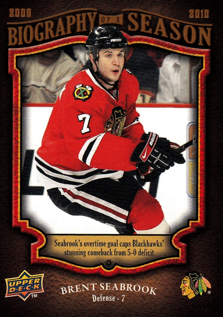 2009-10 Upper Deck Biography of a Season #BOS07 (1)