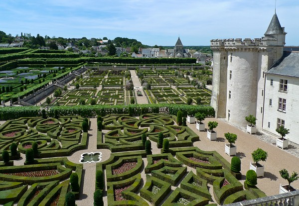 Villandry -  Chateau and Gardens from the terrace