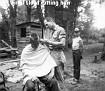 Virgil Lloyd cutting hair